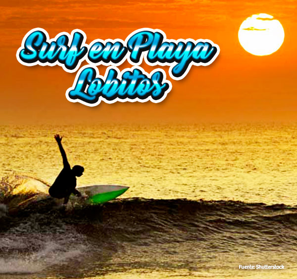 Surf en playa Lobitos